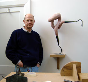 Bob catchpole in his studio